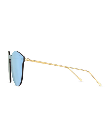 Leonard II Mask Sunglasses, Blue