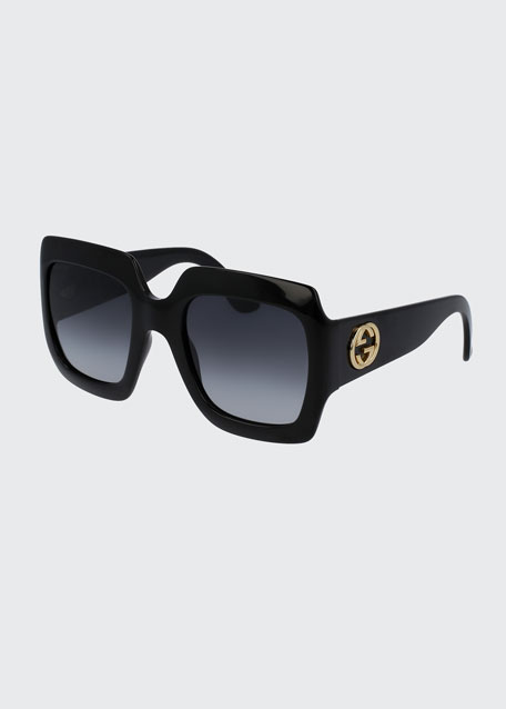 Gucci Oversized Square Sunglasses, Black