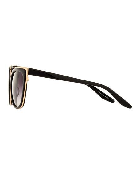 Winette Cat-Eye Sunglasses, Black/Gold Smolder