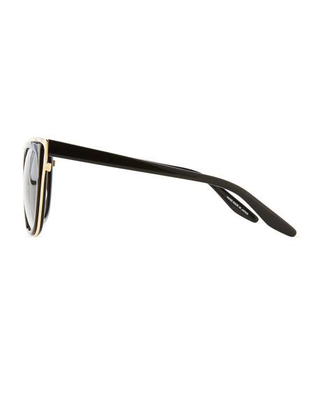 Winette Gradient Universal-Fit Cat-Eye Sunglasses, Black