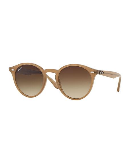 Round Plastic Sunglasses, Black