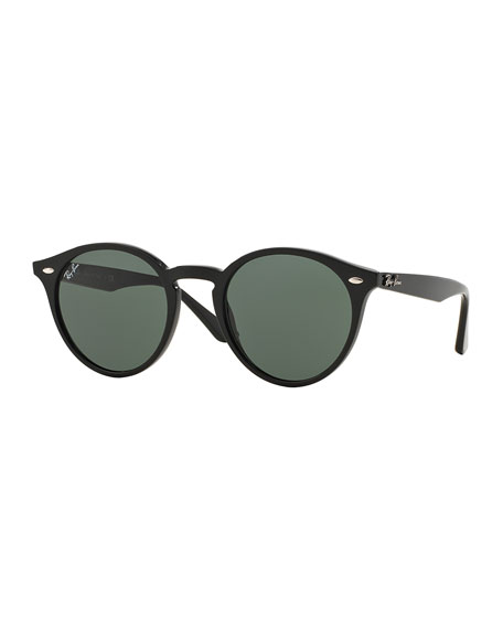 Round Plastic Sunglasses, Black