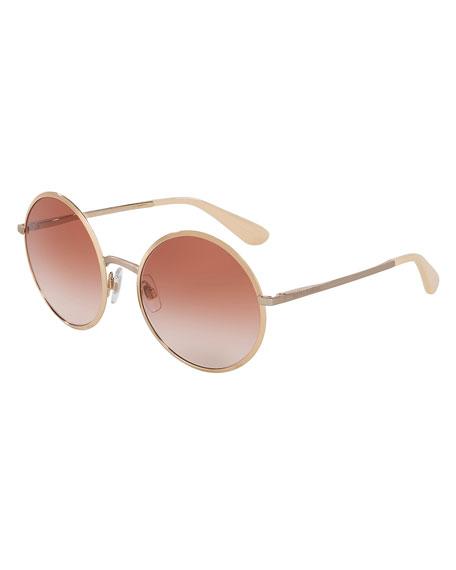 Dolce & Gabbana Gradient Round Sunglasses, Pink/Gold