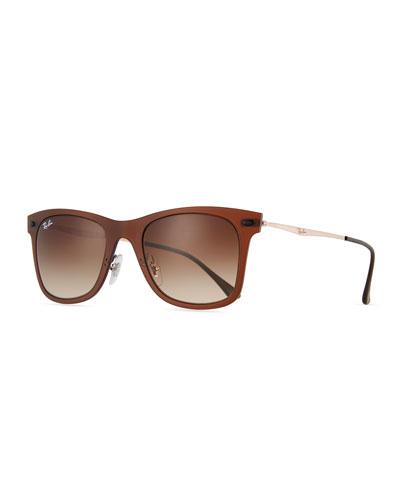 Wayfarer Mirror Matte Clear Sunglasses