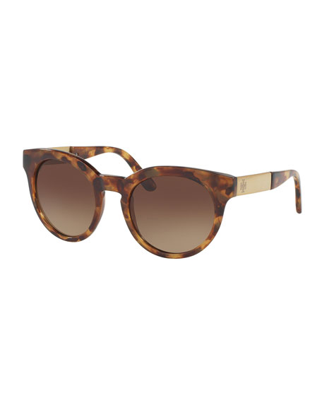 TORY BURCH ROUNDED SQUARE GRADIENT SUNGLASSES, VINTAGE TORTOISE, BLACK