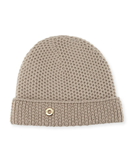 Rougement Chain-Knit Cashmere Beanie Hat
