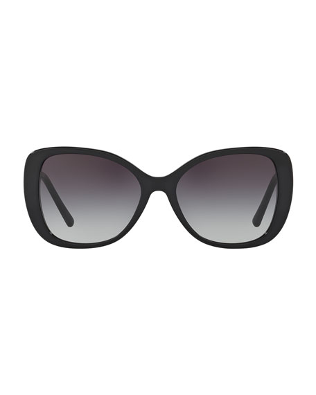 Gradient Metal-Trim Square Butterfly Sunglasses