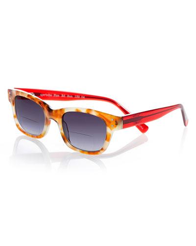 Fizz Ed Two-Tone Sun Readers  Tortoise/Red