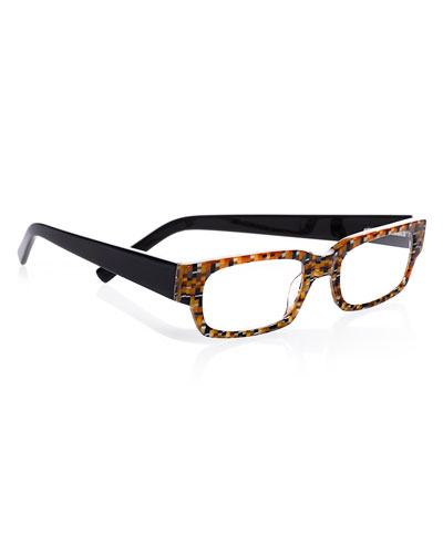 Peckerhead Rectangular Two-Tone Readers  Brown/Black
