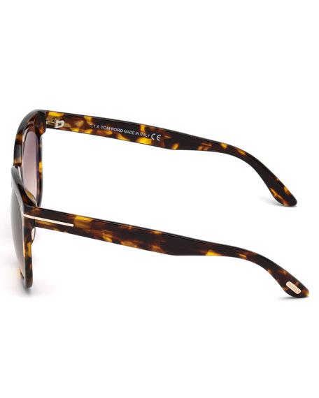 Amarra Square Acetate Sunglasses, Tortoise/Brown
