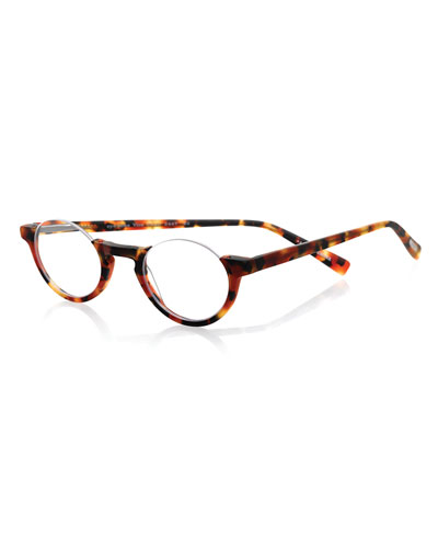 Vice Chair Round Semi-Rimless Readers, Tortoise