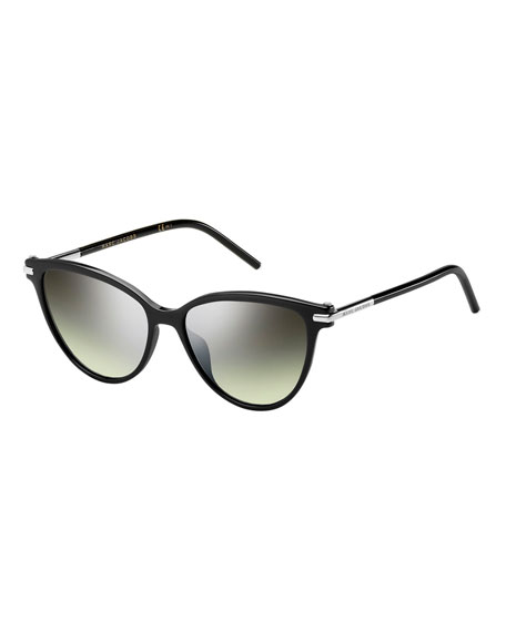 Gradient Plastic Cat-Eye Sunglasses