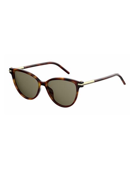 Gradient Plastic Cat-Eye Sunglasses