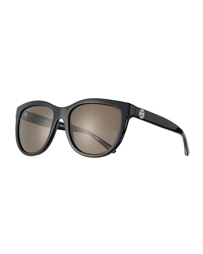 Monochromatic Square Acetate Sunglasses