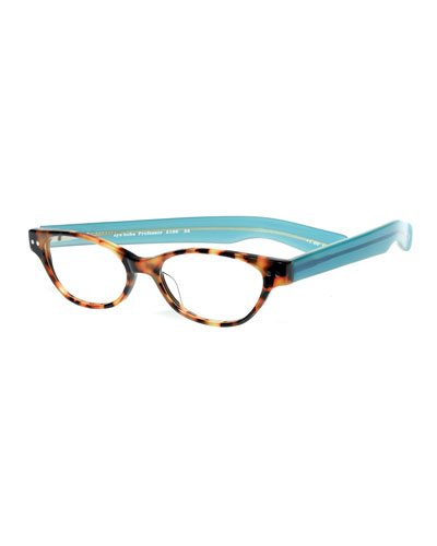 Professor Cat-Eye Colorblock Readers