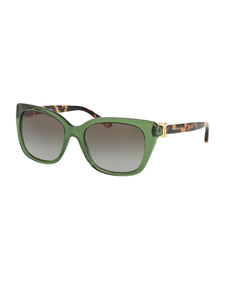 Gradient Acetate Cat-Eye Sunglasses