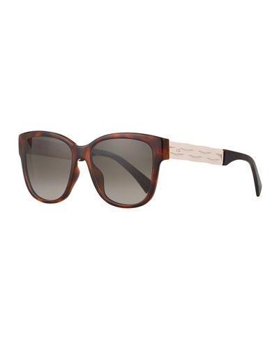 Ribbon1 Square Two-Tone Sunglasses
