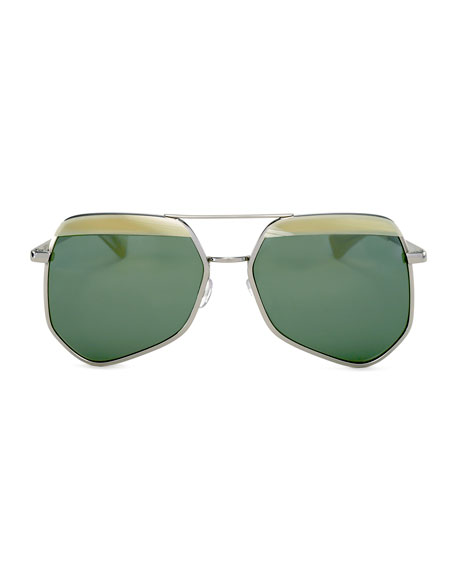 Hexcelled Capped Monochromatic Sunglasses