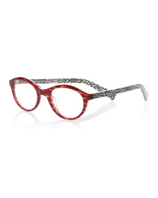 4dc42a674e Eyebobs Soft Kitty Round Patterned Readers