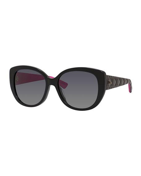Dior Lady 1 Oversized Cat-Eye Sunglasses