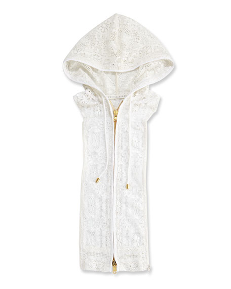 Marlo Lace Hoodie Dickey, Off White