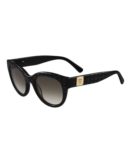 MCM Printed Cat-Eye Logo-Temple Sunglasses