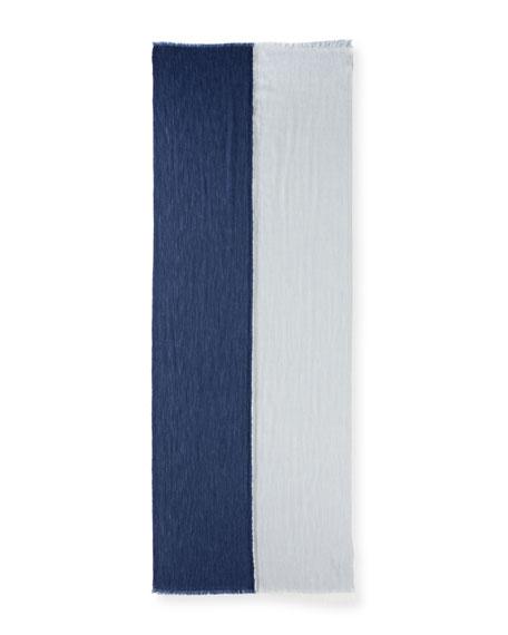 Aylit® Pure Cashmere & Silk Gauze Stole, Denim Blue