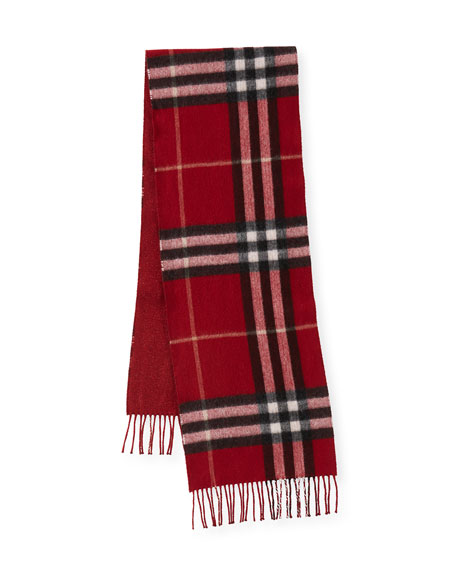 Reversible Metallic & Check Cashmere-Blend Scarf