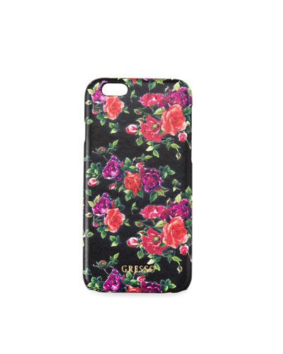 Victorian Garden iPhone Case, Burgundy Roses