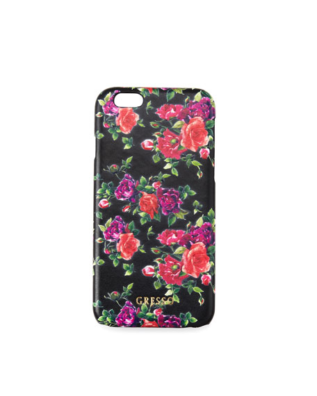 Victorian Garden iPhone Case, Burgundy Roses