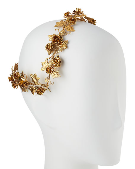 Rosalie Floral Coronet Headband