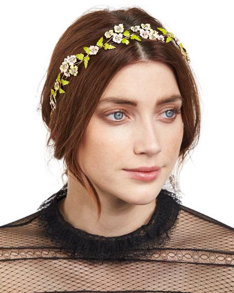 Jennifer Behr Aviva Floral Circlet Headband