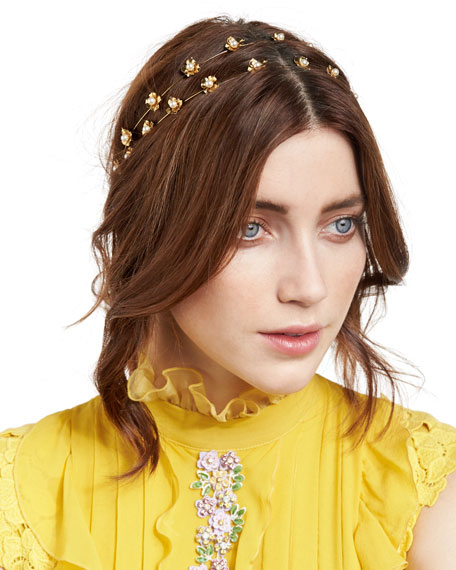 Julia Swarovski® Pearl Bandeau Headband