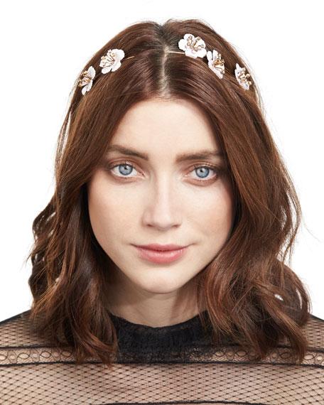 Jennifer Behr Blossom Floral Bandeau Headband