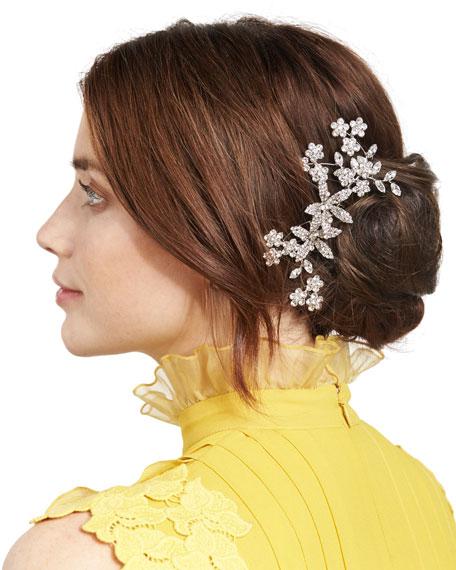 Floral Swarovski® Crystal Hair Comb