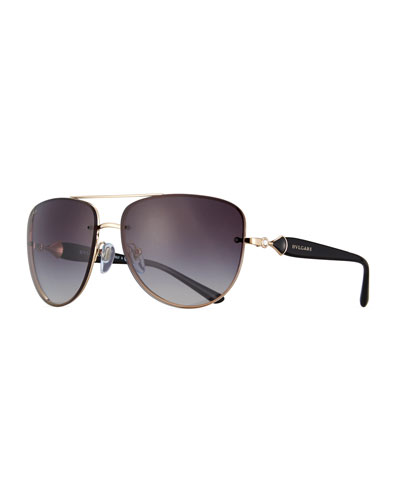 Square Gradient Aviator Sunglasses