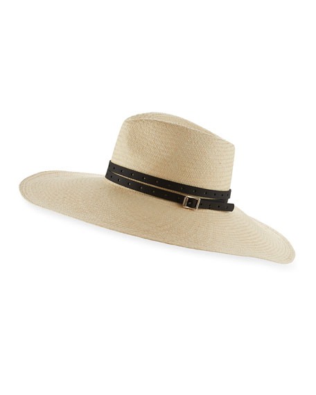 Rag & Bone Wide-Brim Straw Panama Hat with