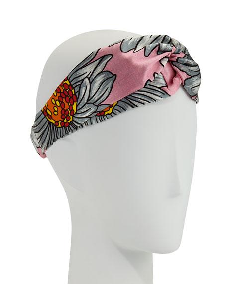 Gucci Marguerite Floral Silk Duchesse Headband