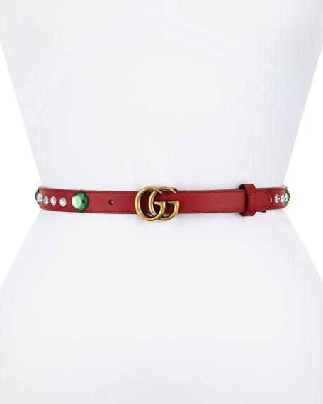 Crystal Belt w/ Double G Buckle