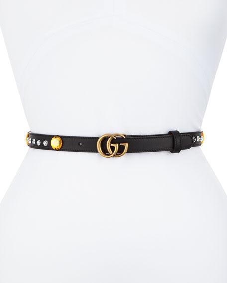 edf01bbe4da Gucci Crystal Belt w  Double G Buckle