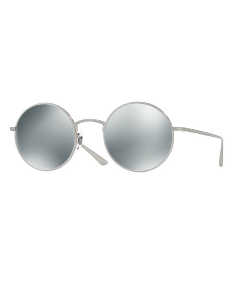 Oliver Peoples After Midnight Round Sunglasses, Gray