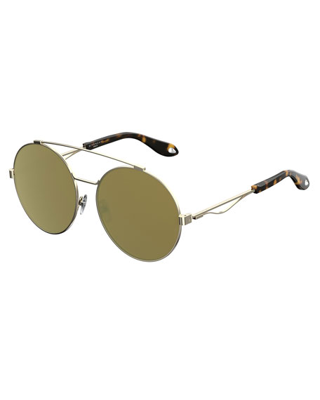 Round Metal Aviator Sunglasses
