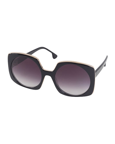 Canton Square Sunglasses, Black