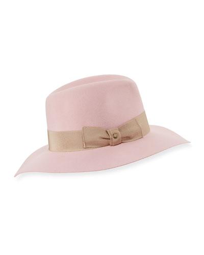 Florence Rabbit Felt Fedora Hat