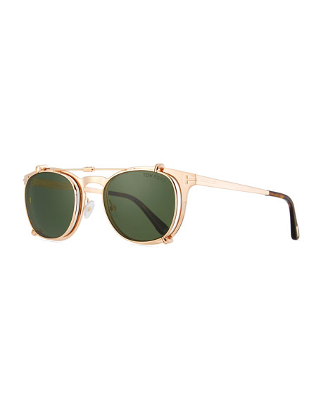 Tom Ford Sunglasses SPECIAL EDITION ROSE GOLD-PLATED CLIP-ON SUNGLASSES BOX SET