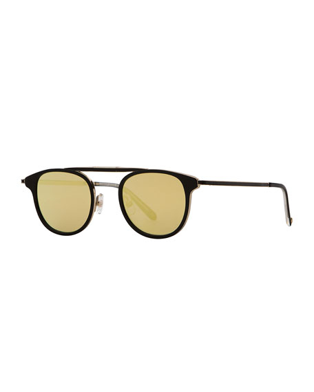 Garrett Leight Van Buren Square Foldable Sunglasses