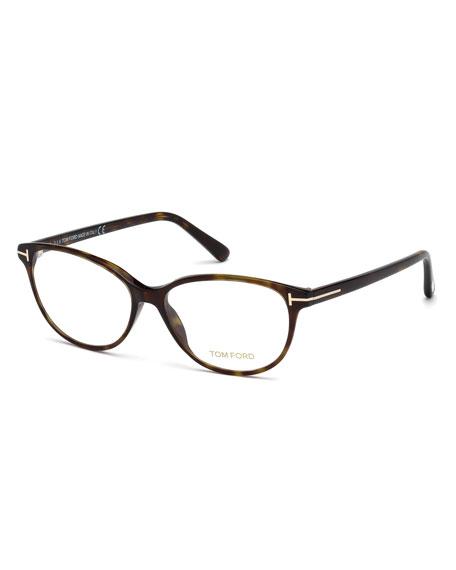 TOM FORD Cat-Eye Optical Frames, Brown Havana