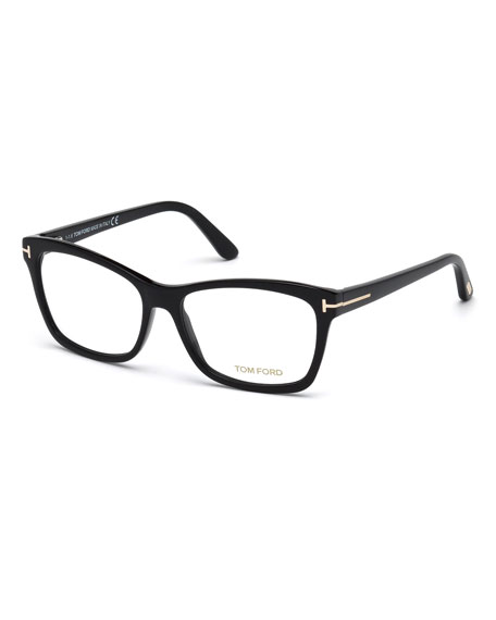 Square Optical Frames, Black