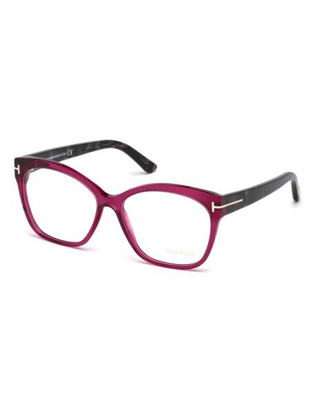 Round Square Optical Frames, Fuchsia