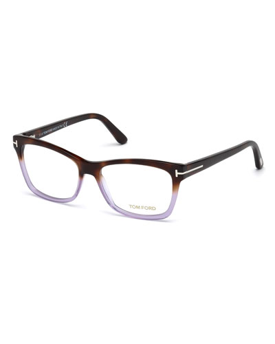 Square Two-Tone Optical Frames  Brown/Purple